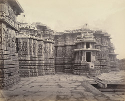 Views in Mysore. Ruined temple of Hallabeed [Hoysalesvara Temple, Halebid]. S.W. face